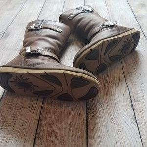 UGG Shoes - UGG Kensington Distressed Brown Buckle Boots K